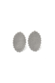 Silver Scalloped Ear Studs