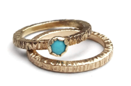 Golden Turquoise Ring