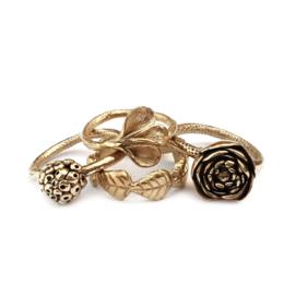 Gouden blaadjes ring