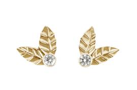 Gouden blaadjes met diamant