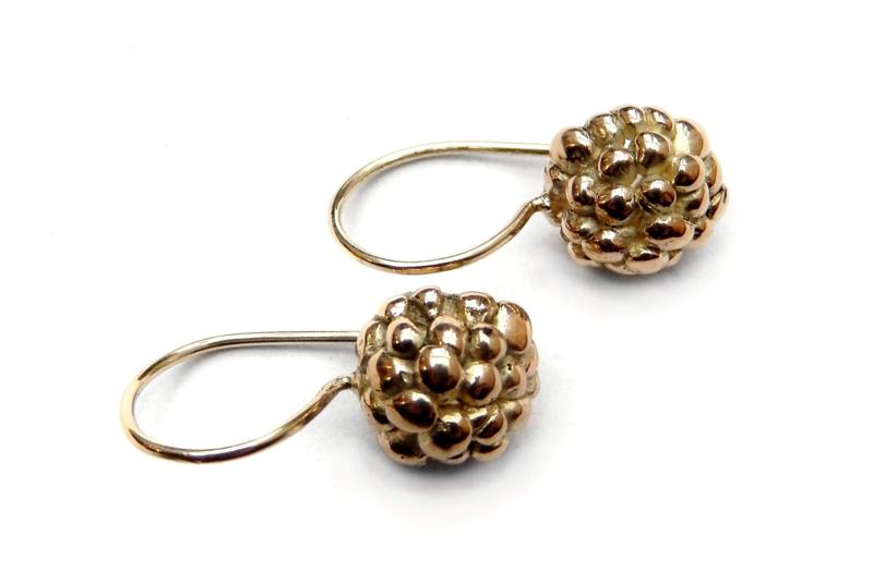 Gold berry earrings