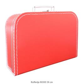 Koffertje 30 cm Rood