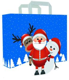 Papieren tas (M) Christmas friends  (doos 500 st)