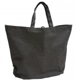 Denim Beach Bag grijs (doos 25 stuks)