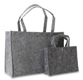 Shopper donkergrijs (klein) doos 100 stuks