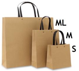 Eco papieren tassen bruin (S) Doos van 100 stuks