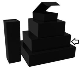 Luxe magneetdoos matt Zwart (Medium) Doos 10 stuks