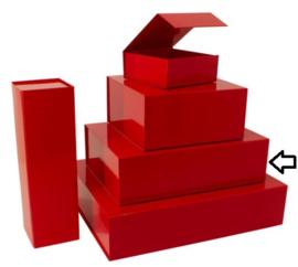 Luxe magneetdoos Rood glans (Medium) Doos 25 stuks
