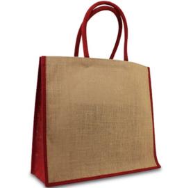 Jute tas rood per stuk