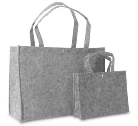 Shopper lichtgrijs (klein) doos 100 stuks