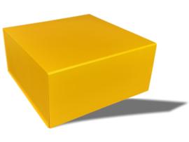Luxe magneetdoos Okergeel (Square)