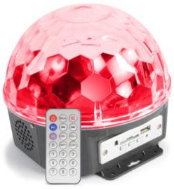 MAGIC JELLY DJ BALL MUZIEKGESTUURD 6X 1W LED MP3 SPELER