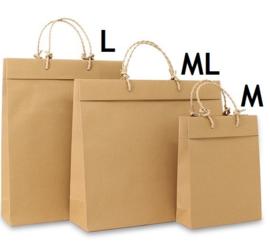 Eco kraft tassen bruin (M) Doos van 100 stuks