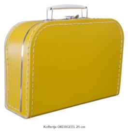 Koffertje 30 cm Okergeel
