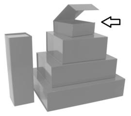 Luxe magneetdoos Zilver glans (Small) Doos 10 stuks