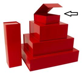 Luxe magneetdoos Rood glans (Small) Doos 25 stuks