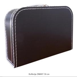 Koffertje 30 cm Zwart