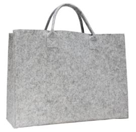 Luxe shopper l.grijs doos 50 stuks