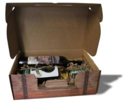 Wijnkoffer Oak Barrel(2 of 3 fles) bundel 25 stuks