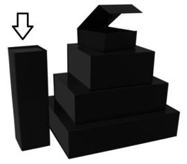 Luxe magneetdoos mat-Zwart (Wine) bundel 10 stuks