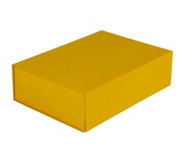 Luxe magneetdoos Okergeel (Medium) bundel 10 stuks