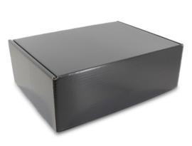 Schoenen verzenddoos zwart (doos 25 st)