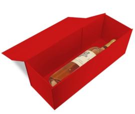 Luxe magneetdoos Rood glans (Wine) Doos 10 stuks