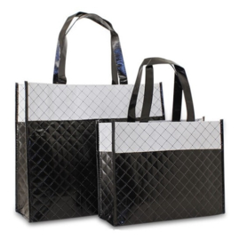 Luxe shopper zwart diamond (klein) doos 50 stuks