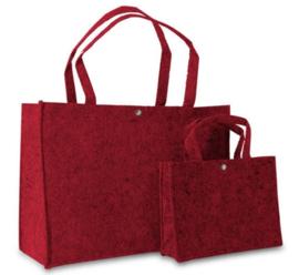 Shopper rood (klein) doos 100 stuks