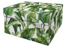 Storage Box Green Leaves Dutch Design Brand