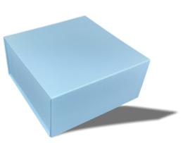 Luxe magneetdoos Lichtblauw (Square)
