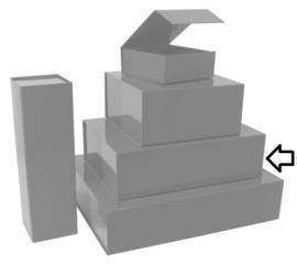 Luxe magneetdoos Zilver glans (Medium) Doos 25 stuks