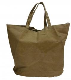 Denim Beach Bag bruin (doos 25 stuks)