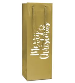 Papieren Wijntas Goud (doos 100 st)
