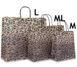 Papieren tas Tijger Design (M) Doos van 200 stuks