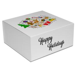 Magneetdoos Christmas Doodle Wit (doos 25 st)