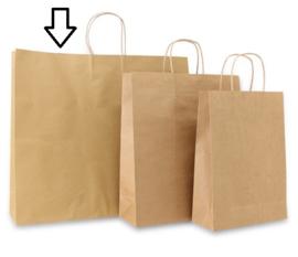 Basic papieren bruin (Large) Doos van 100 stuks