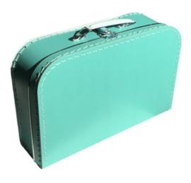 Koffertje 35 cm Turquoise (blauw-groen)