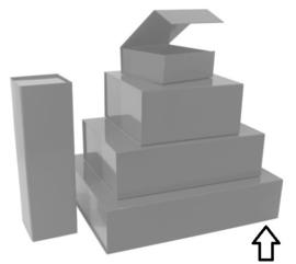 Luxe magneetdoos Zilver glans (Large) Doos 10 stuks