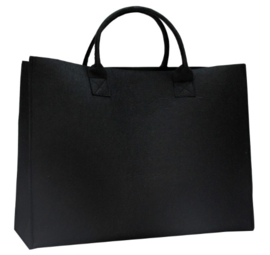 Luxe shopper zwart doos 50 stuks
