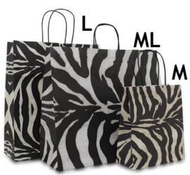 Papieren tas Zebra Design (M) Doos van 200 stuks