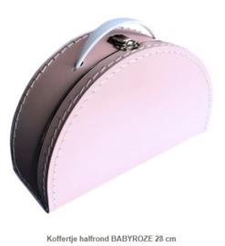 Koffertje 28 cm Halfrond Roze