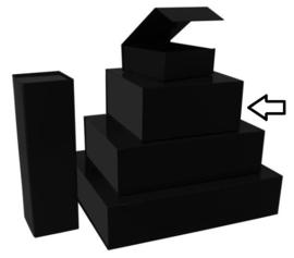 Luxe magneetdoos matt Zwart (Square) Doos 10 stuks