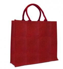 Jute tas rood/goud doos van 50 stuks