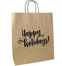 Papieren tas Happy Holidays (doos 250 st)