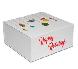 Magneetdoos Christmas Ornaments Wit (doos 25 st)