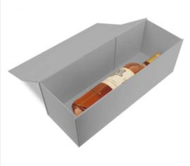 Luxe magneetdoos Zilver glans (Wine) Doos 10 stuks