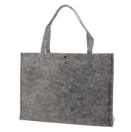 Shopper donkergrijs (groot) doos 50 stuks