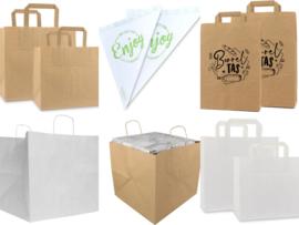 Handige Take-away tassen voor afhalen en bezorgen