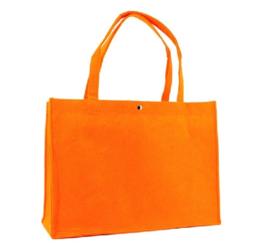 Shopper oranje (groot) doos 25 stuks